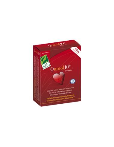 Quinol 10®, 30 cápsulas de 100 mg.